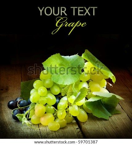 Grapes isolated on Black - stock photo