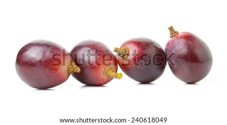 grapes isolated on over white background - stock photo