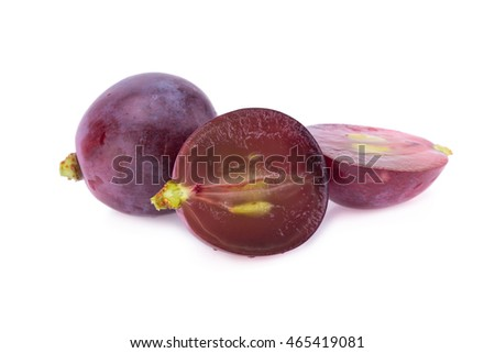 grapes isolated on over white background.