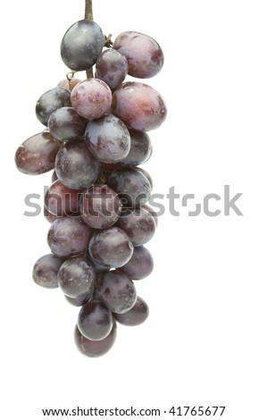 Grapes isolated on pure white