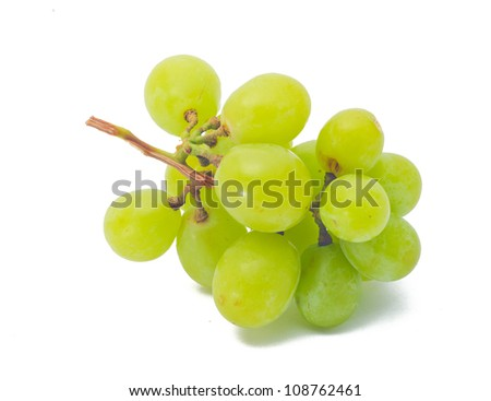 grapes Isolated on the white