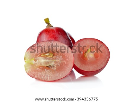 Grapes isolated on white background .