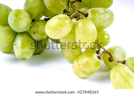 Grapes isolated on white background. DOF and copy space - stock photo