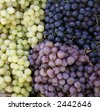 Grapes on a market in Siena, Tuscany, Italy, Europe - stock photo