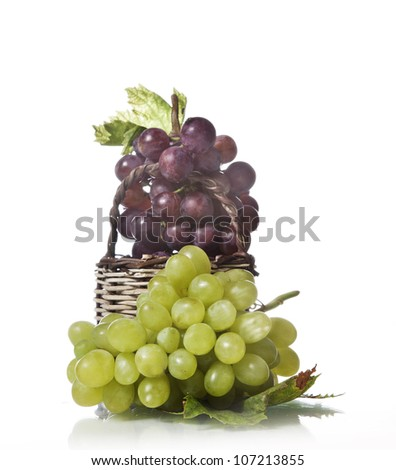 Grapes on isolated background