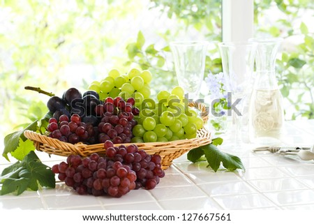 Grapes, wine - stock photo