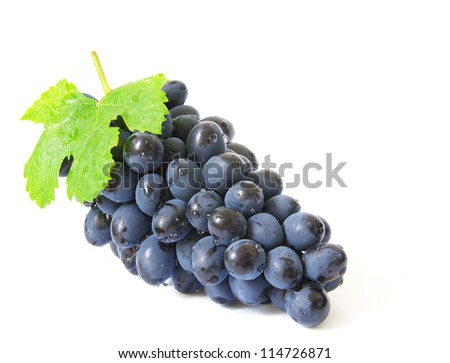 grapes with water drops - stock photo