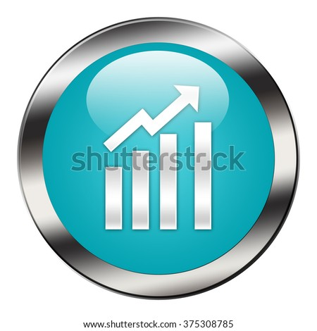 graph button isolated - stock photo