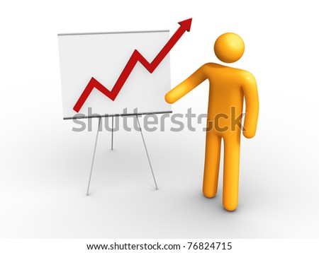 Graph Chart. - stock photo