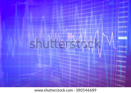 graph chart of stock market investment trading background - stock photo