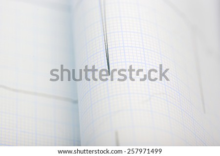 Graph close-up medical background - stock photo
