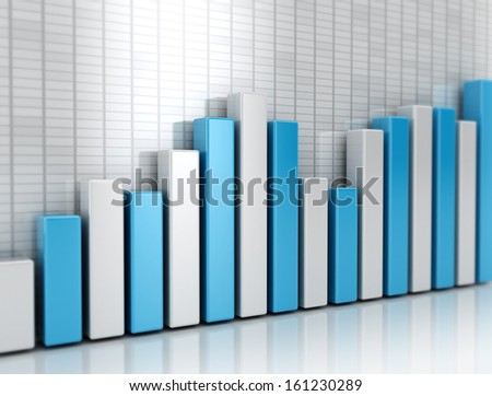 Graph financial growth - stock photo