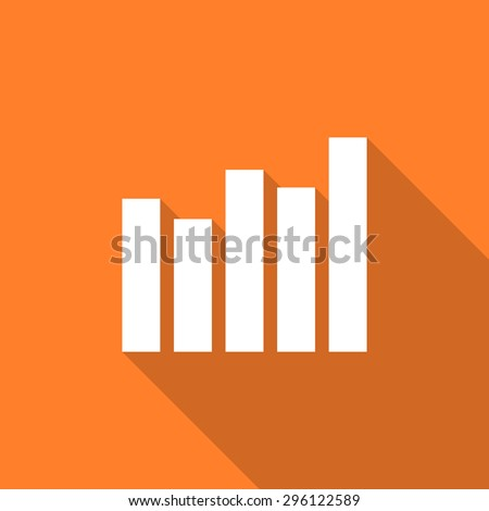 graph flat design modern icon with long shadow for web and mobile app - stock photo