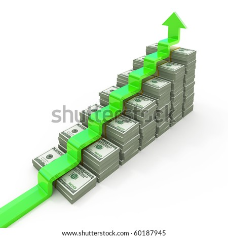 Graph from USD stacks - stock photo