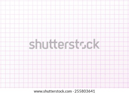 Graph grid paper with red lines. Slight highlight on upper left. Shot square to image dimension - stock photo