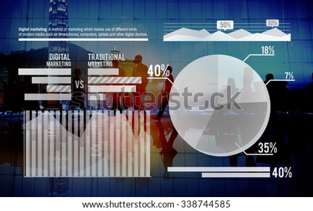 Graph Growth Success Stock Market Finance Analysis Concept - stock photo
