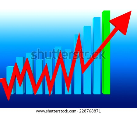 Graph Increasing Representing Graphs Trend And Finance - stock photo
