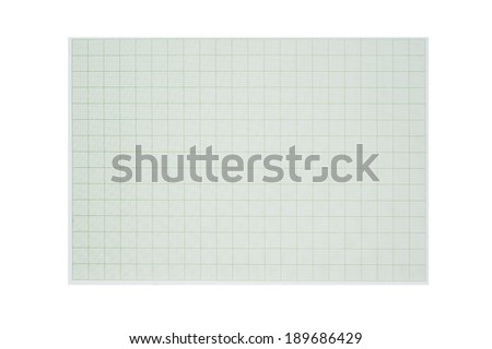 Graph line, paper on white background  - stock photo