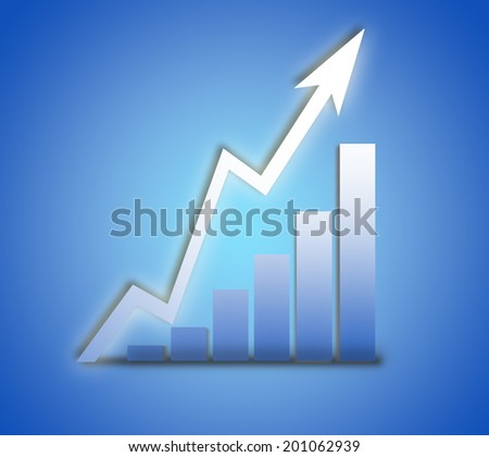 Graph, Moving UP - stock photo