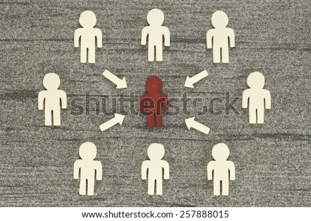 Graph opinion influence - stock photo