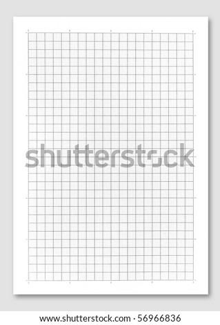 graph paper. - stock photo