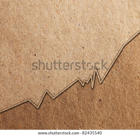 Graph paper brown colour - stock photo