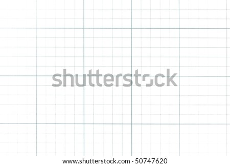 Graph paper grid isolated on pure white. - stock photo