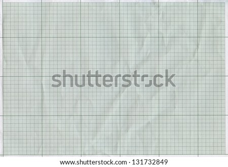 Graph paper texture, square grid background - stock photo