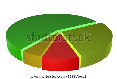 graph pie business illustration - stock photo