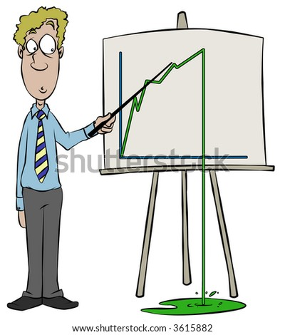 Graph showing a slight problem. - stock photo