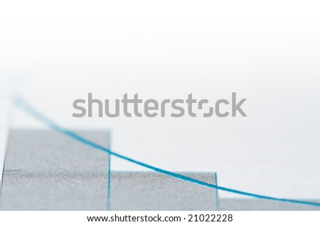 Graph showing loss of profits , close up photo with shallow DOF and space for your text - stock photo