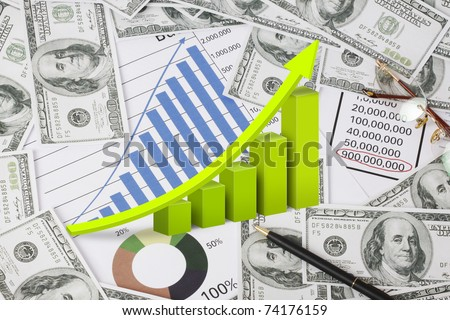 Graph with dollar