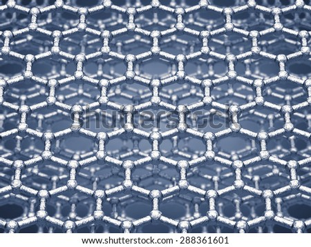 Graphene sheets structure , Nanotechnology - stock photo