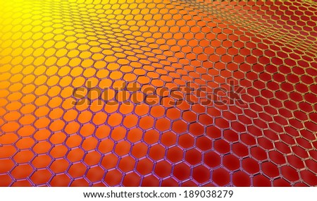 Graphene structure - stock photo