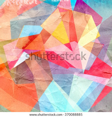 graphic abstract background with a geometry different elements - stock photo