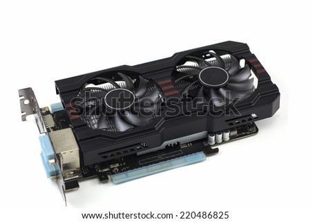 graphic card isolated on white  - stock photo