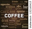 Graphic containing words concerning coffee - stock vector