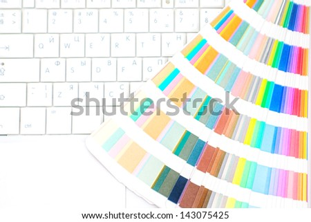 Graphic design and printing technology concept - stock photo