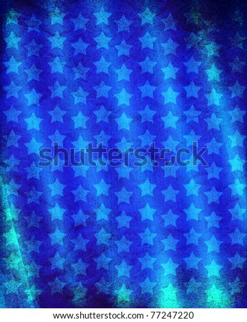 Graphic Design (Vintage Background) - Made In USA - Flag Elements - stock photo