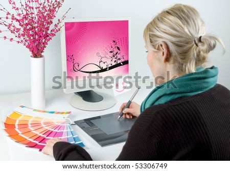 Graphic designer - stock photo