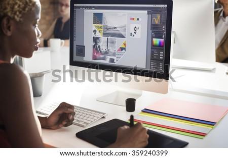 Graphic Designer Creativity Editor Ideas Designer Concept - stock photo