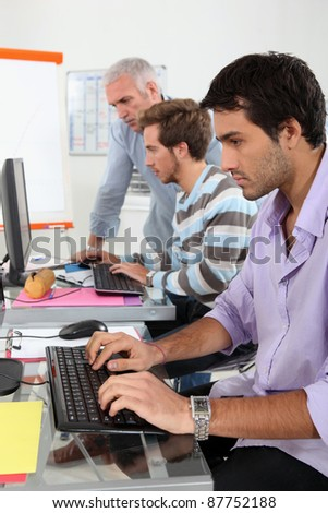 Graphic designer training - stock photo