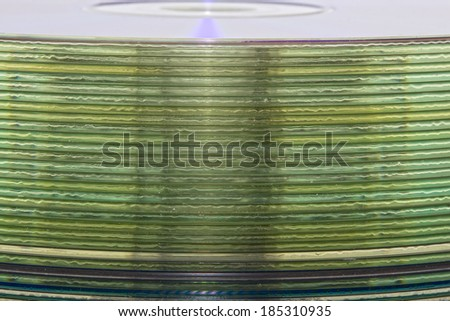 graphic drawing of a stack of music CDs - stock photo