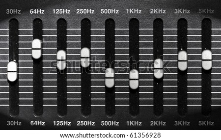 graphic equalizer - stock photo