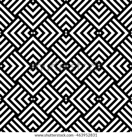 Graphic Geometric Pattern Black White Stock Vector