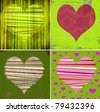 graphic illustration art with hearts - stock photo