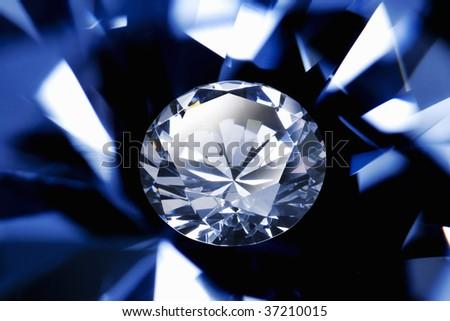 Graphic Image- a beautiful diamond - stock photo