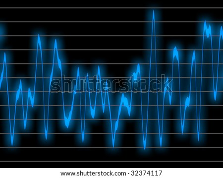 Graphic of a digital sound. Can be used as background
