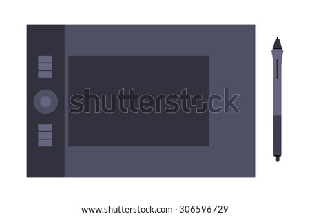 Graphic tablet. Illustration suitable for advertising and promotion - stock photo