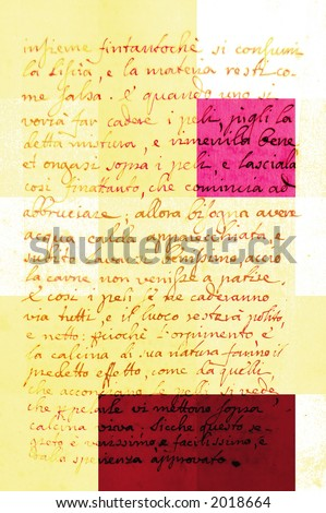 graphic view of a hand-written page of a book - stock photo